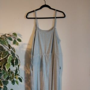 Grey jumpsuit NWOT with pockets
